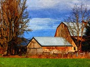 Barn in Oil