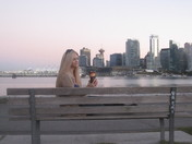 Enjoying a Downtown Vancouver sunset with my Tim's