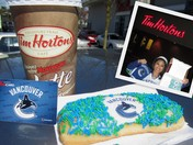 Tim Hortons... the official donut of the Canucks!