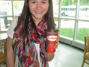 Enjoying a Tim's hot coffee at Sunnybrook