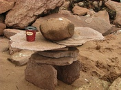 Inukshuk coffee holder