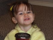 My daughter enjoying her Tim Horton's Hot chocolate