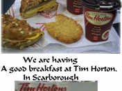 Breakfast at Tim Hortons