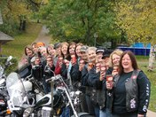 Ladies Motorcycle group LOVES Tims!!
