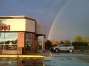 My hot chocolate was the pot of gold at the end of the rainbow!