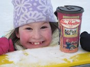 Hot Chocolate from Tims goes perfectly with skating!!