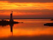 Erieau harbour sunrise