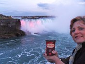 Niagara Falls at Twilight with my Tim's.......cheers!