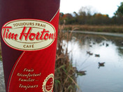 Nothing like a Timmy's on a cold day out in nature