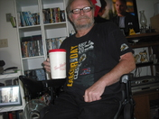 My first cup of Tim Hortons Coffee with my Antique Mug at home.289-389-6089