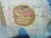 All about Love,,on a Tim's bag :)