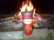 The Canadian Fall!  Campfire, Friends and Tims!