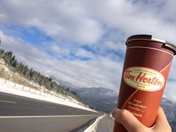 Top of British Columbia with an English Toffee Coffee