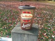 A large double double on a Fall day... yummm
