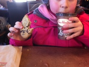 Enjoying A Tims Hot Chocolate