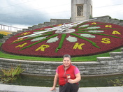 Sitting at the Floral Clock