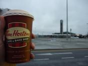 Nothing like a hot Timmies coffee on a cold, grey day.
