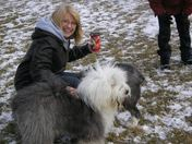 Life is good.  Timmies Coffee and my Old English Sheepdogs.