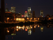 Montreal at Night from the Lachine Canal