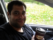 Enjoying my Tim Horton's White Hot Chocolate as usual!