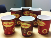 Everyone at work likes Tim Hortons