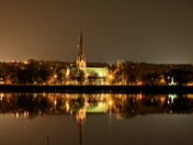 Christ Church Cathedral, Fredericton, NB at Night
