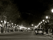 Queen Street, Fredericton, NB, at Night