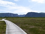 Western Brook Pond fjord in Gros Morne National Park, Newfoundland