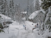 Heavy snow at Emerald Lake -