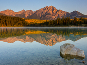 Pyramid Lake Reflection, Jasper National Park