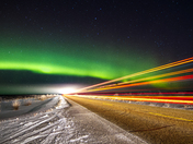Streaks of Northern Lights