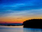 Noctilucent Clouds, Lesser Slave Lake, Alberta
