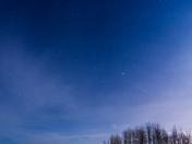 Quadrantid Meteor, Lesser Slave River, Alberta