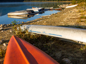 Canoes at Sunrise, Patricia Lake, Jasper National Park