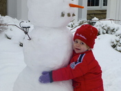 My son's first snowman
