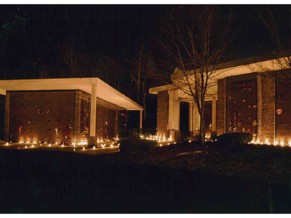 Some pictures from past Luminary Services