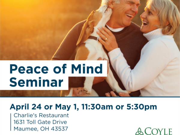 join us for one of our seminars! 11:30 or 5:30 on April 23 or May 1st.