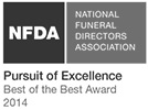 NFDA Pursuit of Excellence Award 2014 Logo