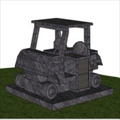 Golf Cart Cremation Estate