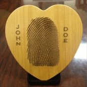 Thumbie Wooden Heart