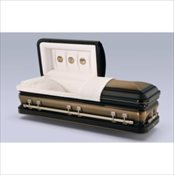 Golden Midnight Steel Casket