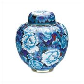 Royal Blue Cloissonne' Urn