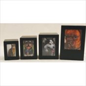 Black Finish MDF Photo Urn