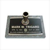 Paragon Bronze Single Marker with Vase