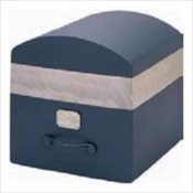 Midnight Blue Stainless Steel Urn Vault
