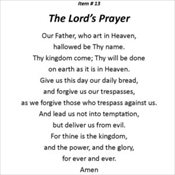 13 - The Lord's Prayer