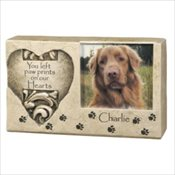 Pawprints Cultured Stone Photo Keepsake