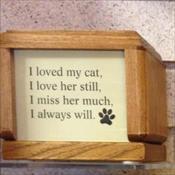 I loved my cat