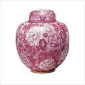 Magnolia Pink Cloisonne Urn