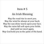 5 - Irish Blessing